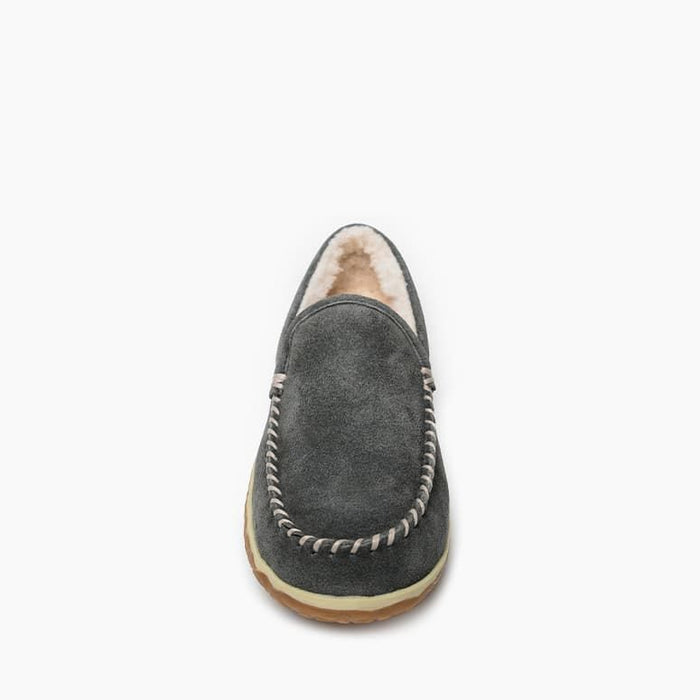 Men's Minnetonka Tilden Moc Slipper - Grey