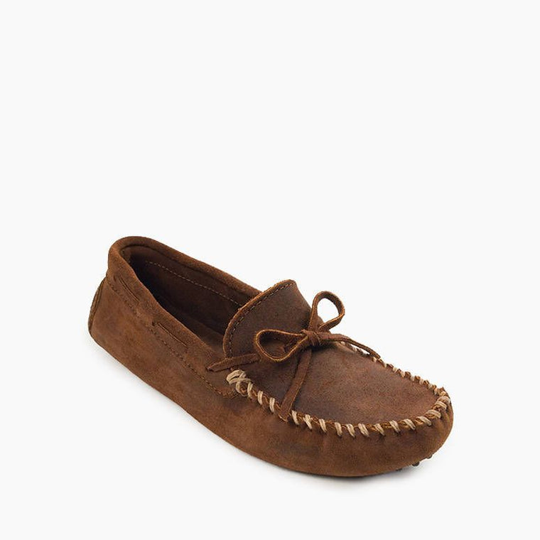 Minnetonka Men's Classic Driver Slipper - Brown Ruff
