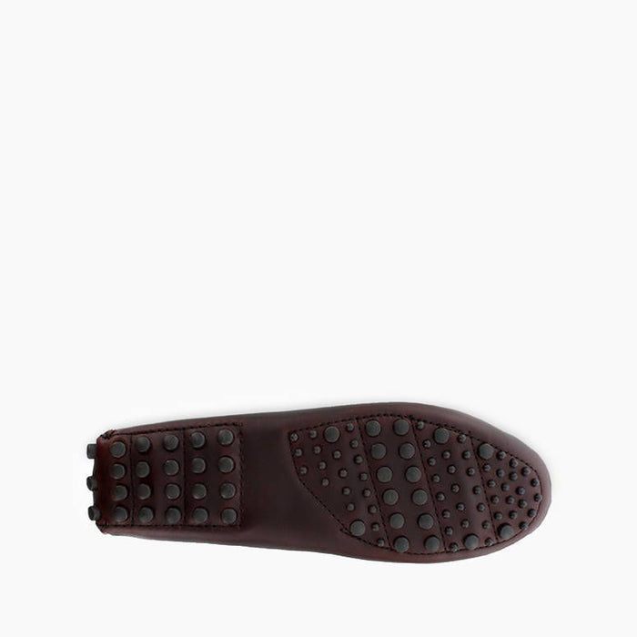 Minnetonka Men's Classic Driver Slipper - Dark Brown