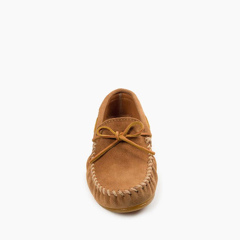 Minnetonka Men's Classic Moc Slipper - Taupe
