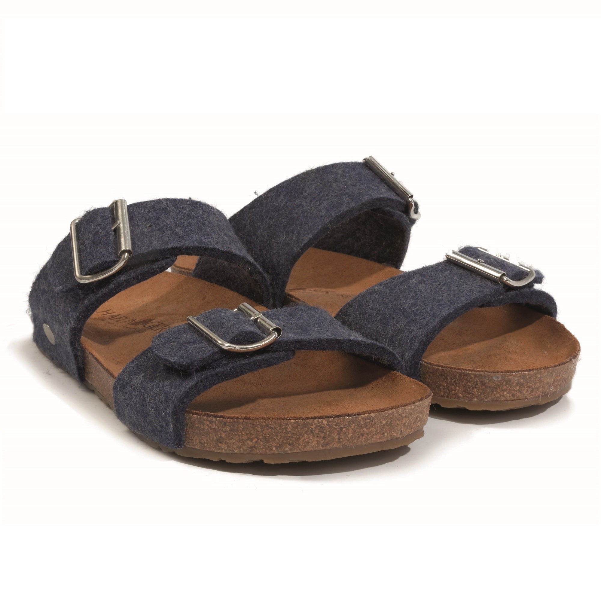 Haflinger Women's Anabel Boiled Wool Sandal - Denim
