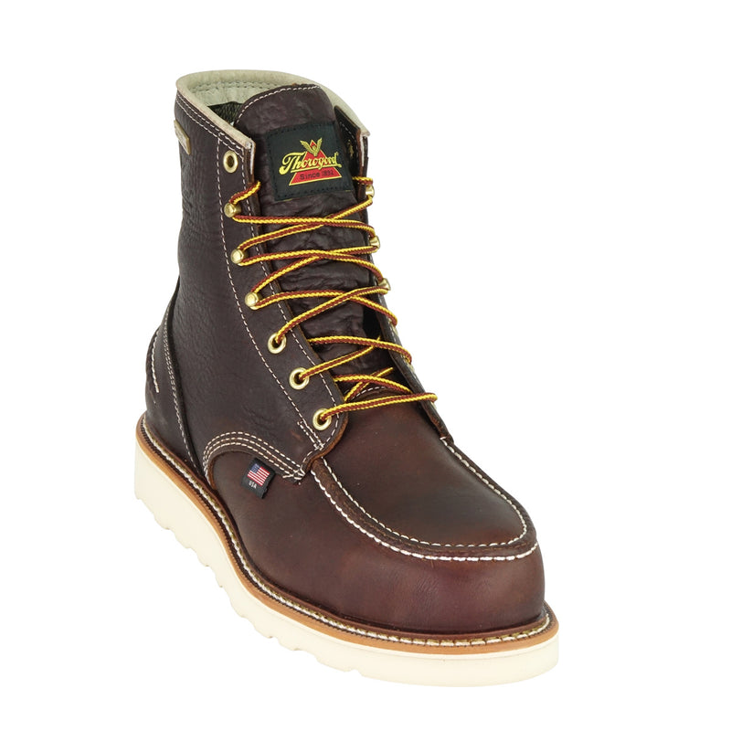 "Thorogood 804-3600 1957 Series Wtpf - 6"" Briar Pitstop Safety Moc Toe Maxwear Wedge"