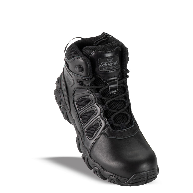 Thorogood Men's 804-6385 Crosstex Side Zip BBP Wtpf Safety Toe - Black