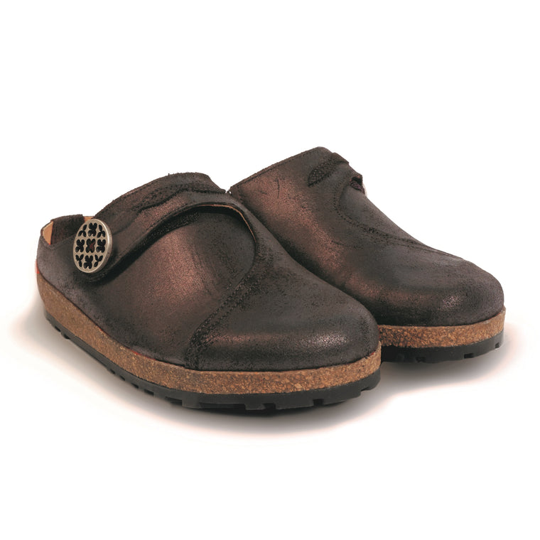 Haflinger Women's Adventure Leather Clog - Brown