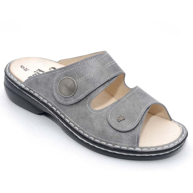 Finn Women/'s Sansibar Soft Leather Sandals Grey Monroe 82550-503218