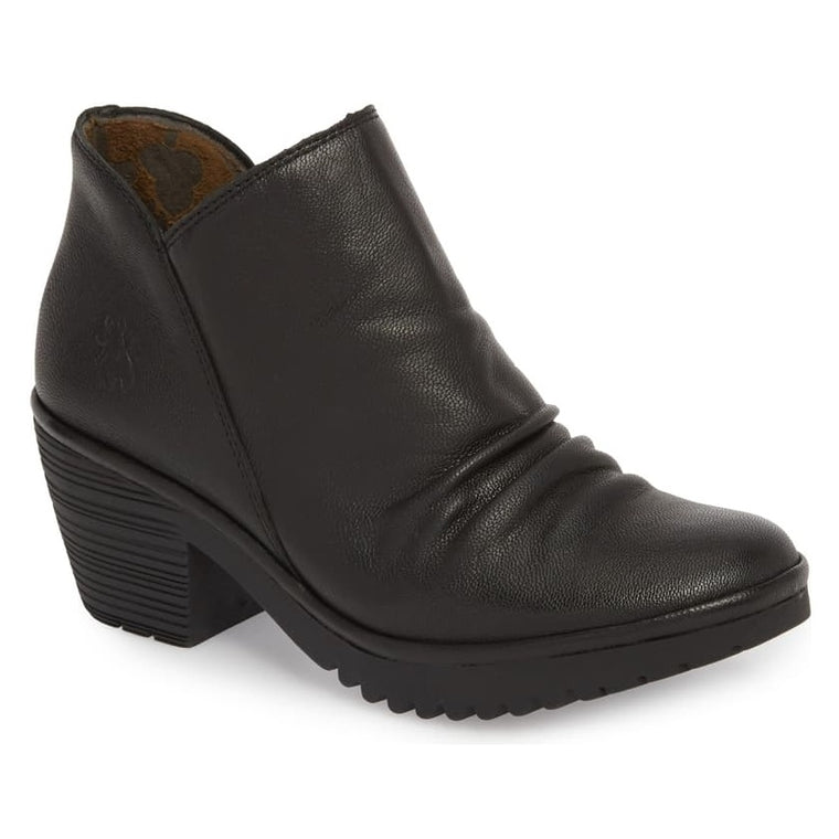 Women's Fly London Wezo Bootie (Wide) - Black Mousse