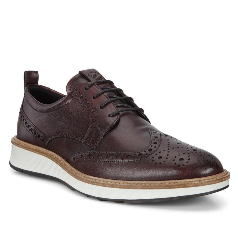 Ecco Men's St.1 Hybrid Wingtip Derby Shoes - Syrah