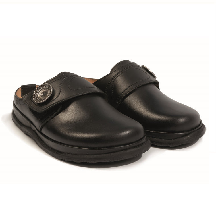 Women's Haflinger Charlotte Leather Clog - Black