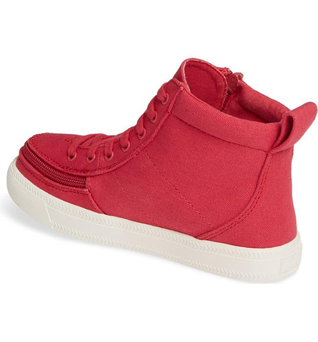 Kids' BILLY Footwear Classic Lace Zip High Top - Rogue Red