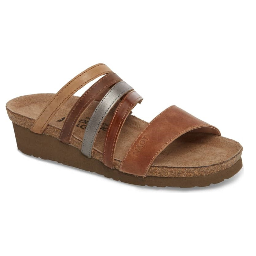 Women's Naot Peyton - Latte Brown Leather/Maple