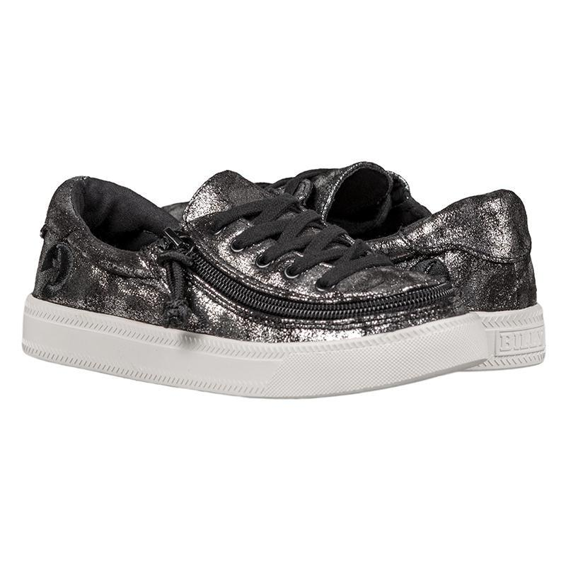 BILLY Footwear Kids Classic Lace Low - Black Metallic