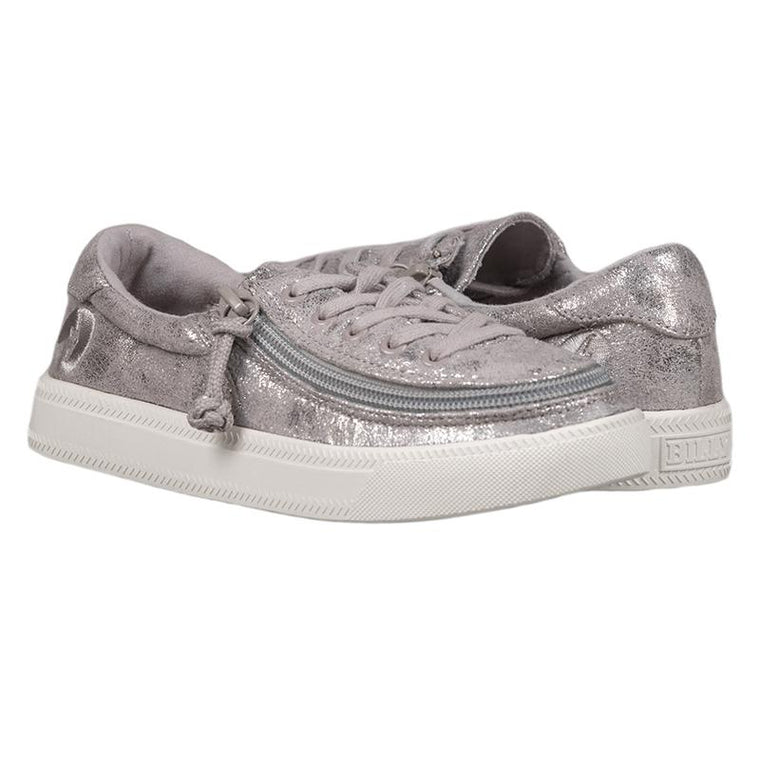Kid's BILLY Footwear Classic Lace Low - Grey Metallic