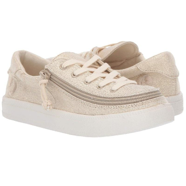 Kid's BILLY Footwear Classic Lace Low - Natural Gold Lux