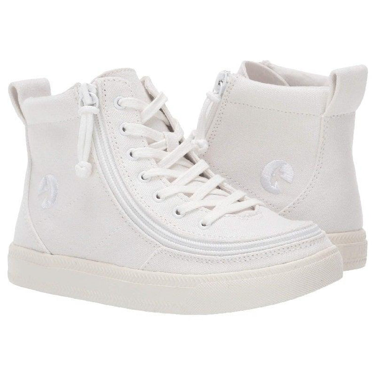 Kids BILLY Footwear Classic Lace High - White to the Floor Canvas