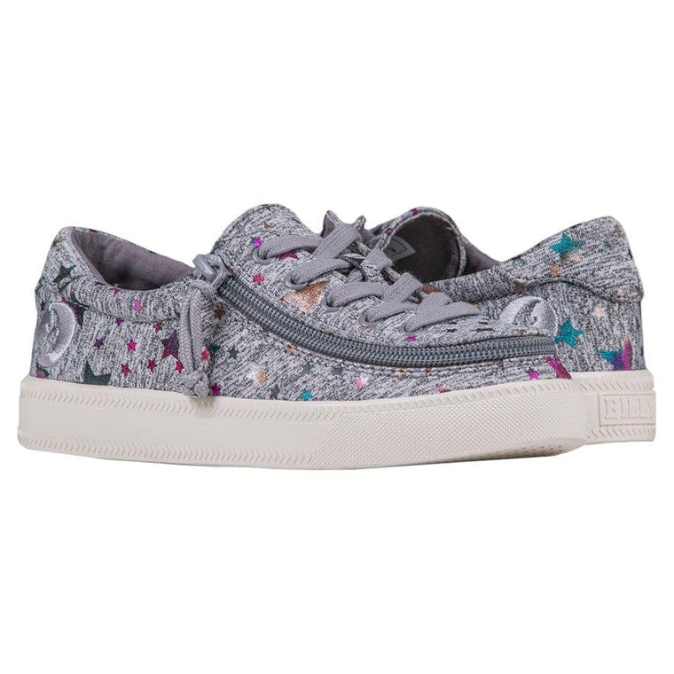 Kids BILLY Footwear Classic Lace Low - Heather Grey Star