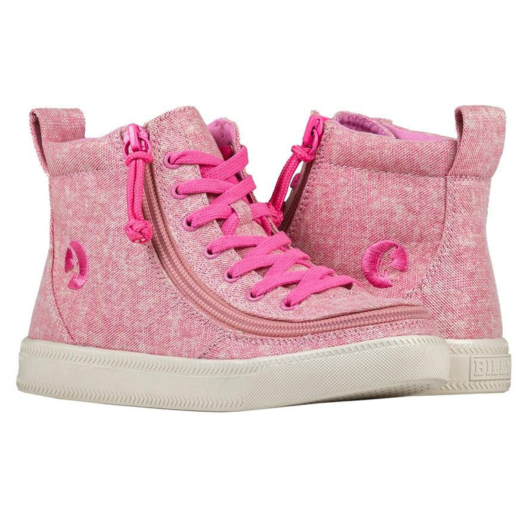 BILLY Footwear Kid's Classic Lace High - Heather Pink Lurex
