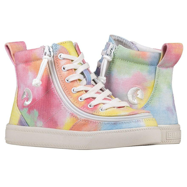 Kids BILLY Footwear Classic Lace High - Sherbert Tie Dye Printed Canvas