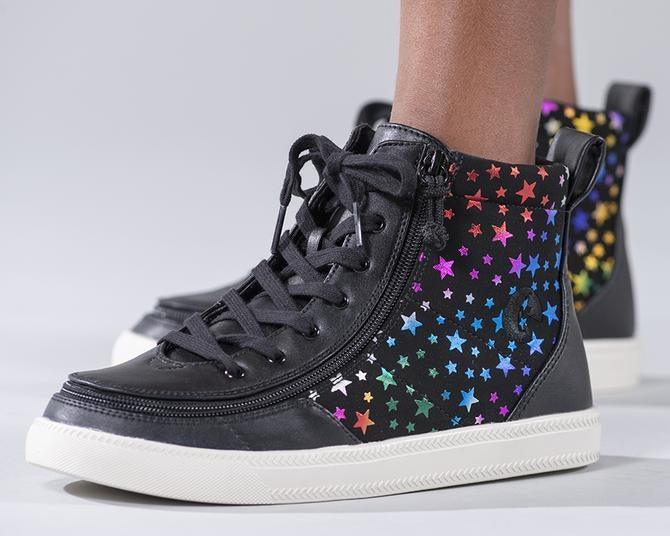 Kids Black Stars BILLY Classic Lace High