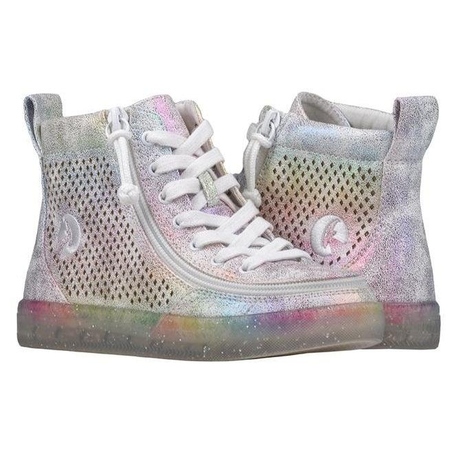 Kids Rainbow Crackle BILLY Classic Lace High