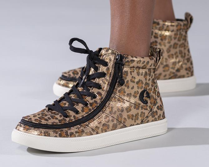 Kids Leopard Shimmer BILLY Classic Lace High