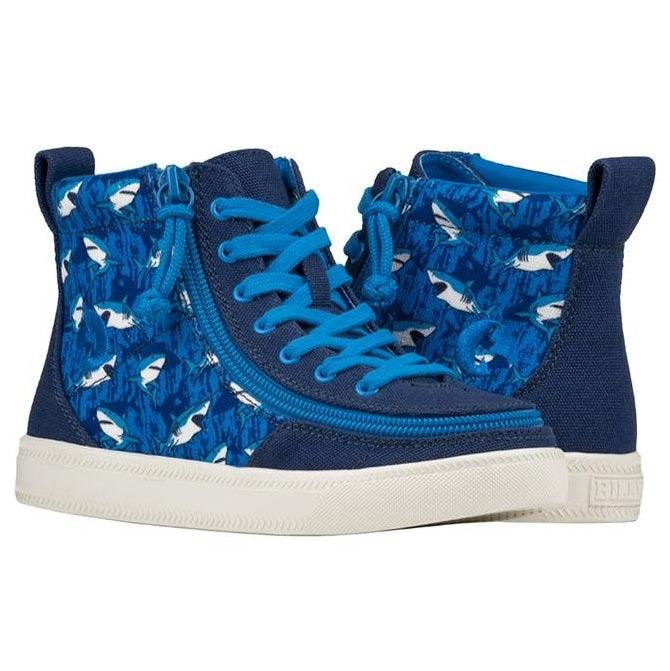 Kids Blue Sharks BILLY Classic Lace High