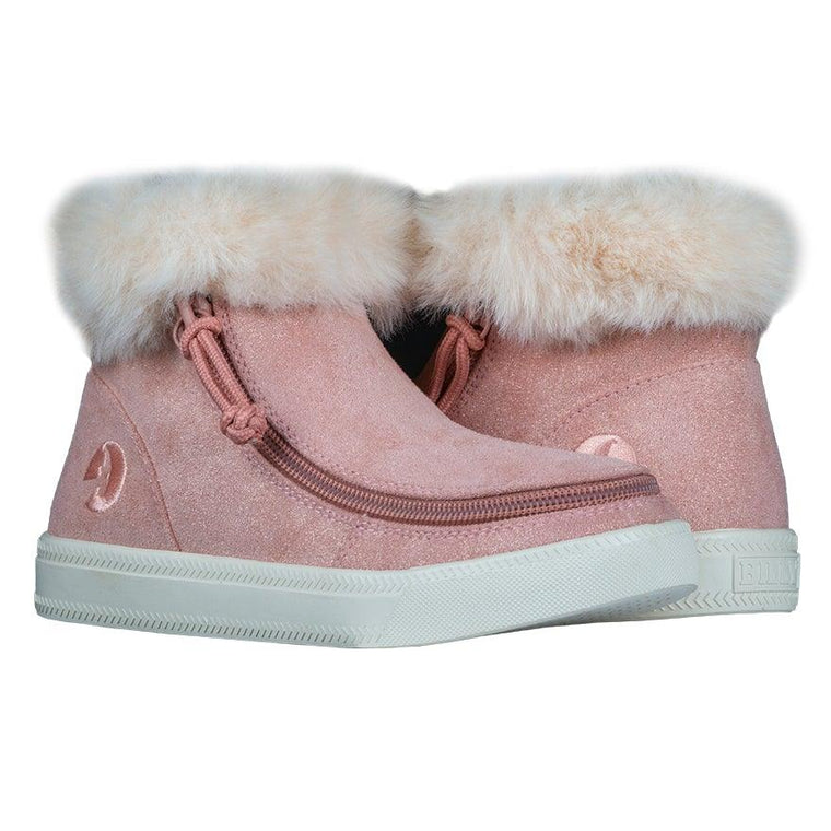 BILLY Footwear Kids Mid Top Luxe - Blush Shimmer