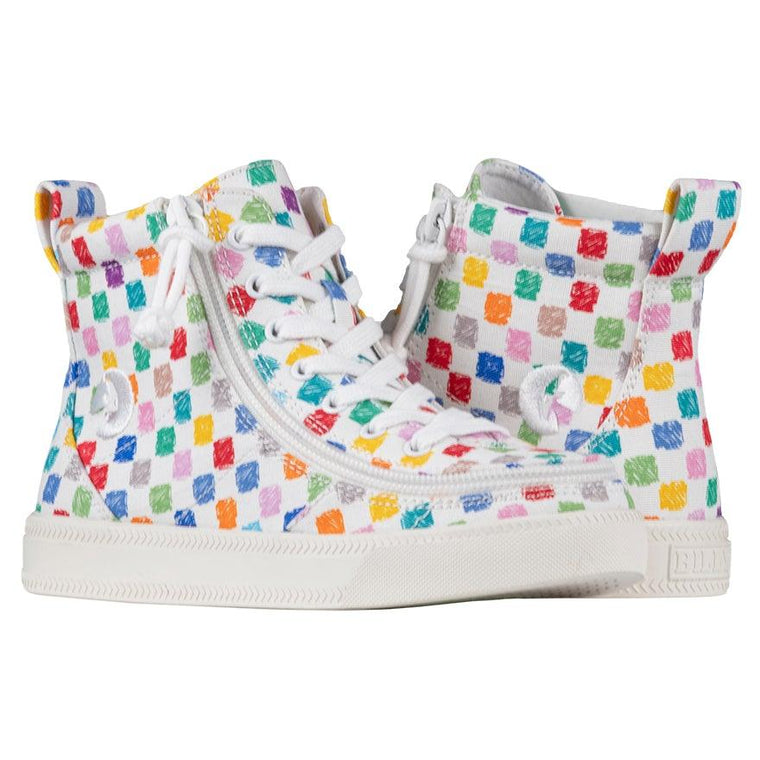 BILLY Footwear Kid's Classic Lace High - Checkerboard