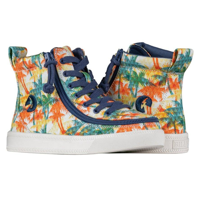 BILLY Footwear Kid's Classic Lace High - Natural Palms