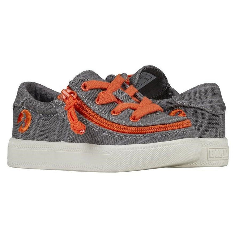 BILLY Footwear Toddler Classic Lace Low - Grey/Orange