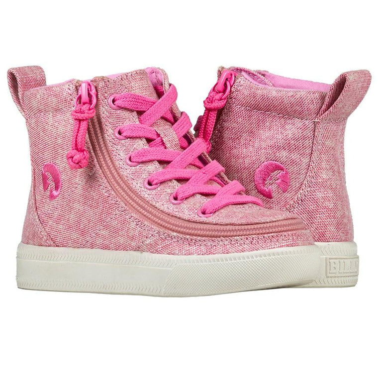 BILLY Footwear Toddler Classic Lace High - Heather Pink Lurex