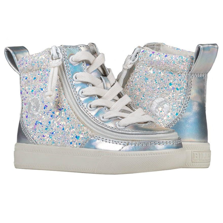 BILLY Footwear Toddler Classic Lace High - Unicorn Metallic Glitter