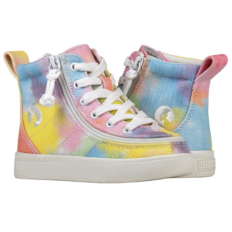 Toddler BILLY Footwear Classic Lace High - Sherbert Tie Dye