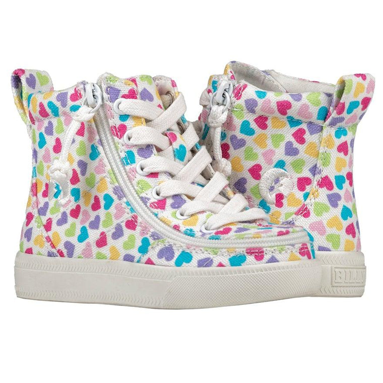 Toddler BILLY Footwear Classic Lace High - Hearts