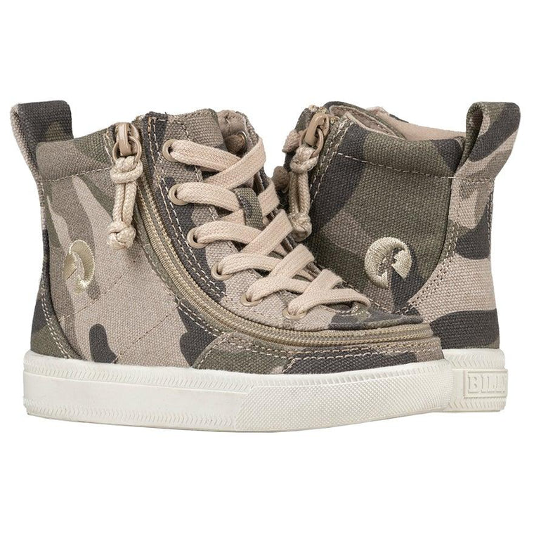 BILLY Footwear Toddler Classic Lace Zip High Top - Natural Camo