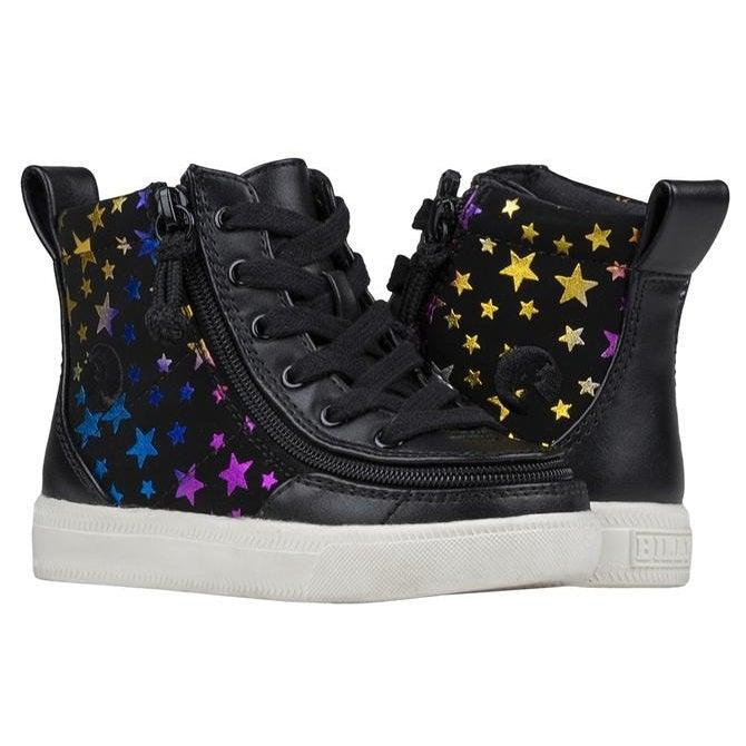 Toddler Black Stars BILLY Classic Lace High