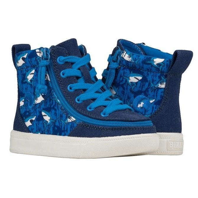 Toddler Blue Sharks BILLY Classic Lace High