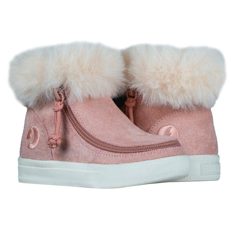 BILLY Footwear Toddler Mid Top Luxe - Blush Shimmer