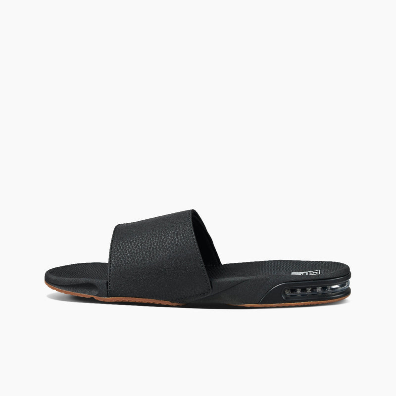 Reef Men's Fanning Slide Sandals - Black/Silver