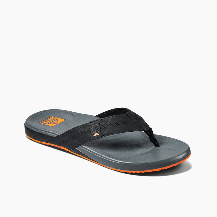 Reef Men's Cushion Phantom Flip Flops - Black/Orange