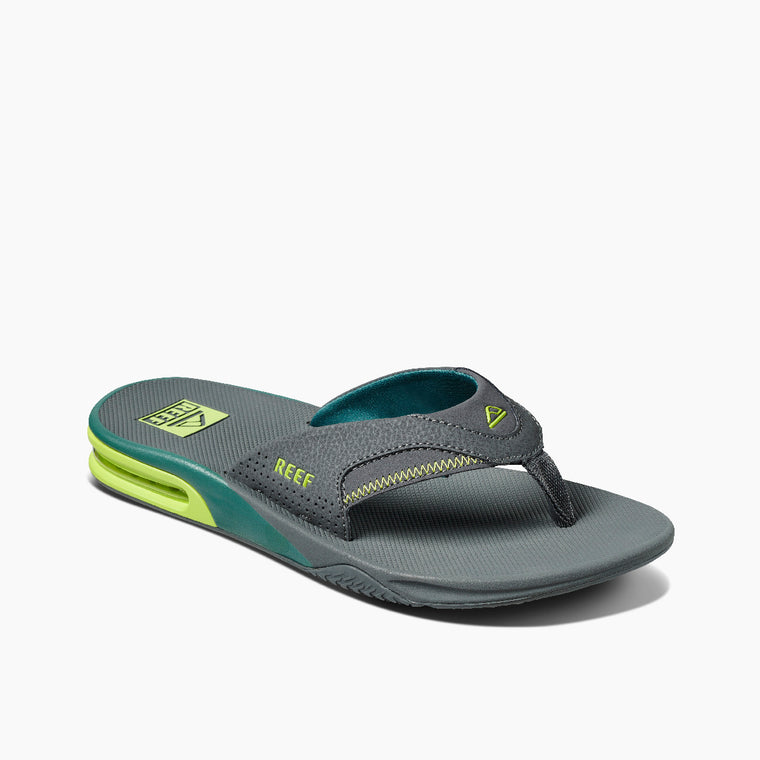 Reef Men's Fanning Flip Flops - Grey Volt