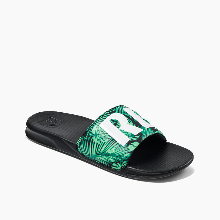 Reef Men's One Slide Sandals - Green Palm