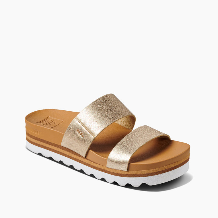 Reef Women's Cushion Vista Hi Sandals - Champagne
