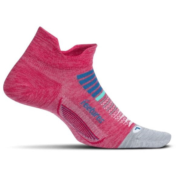 Feetures Elite Light Cushion No Show Tab Socks - Quasar Pink