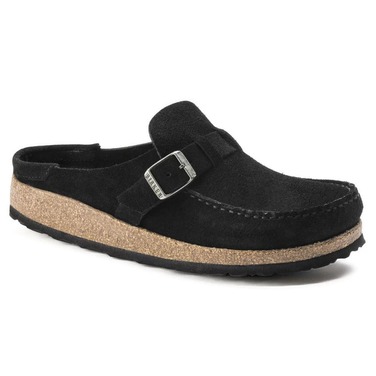 Women's Birkenstock Buckley Mule - Black Suede
