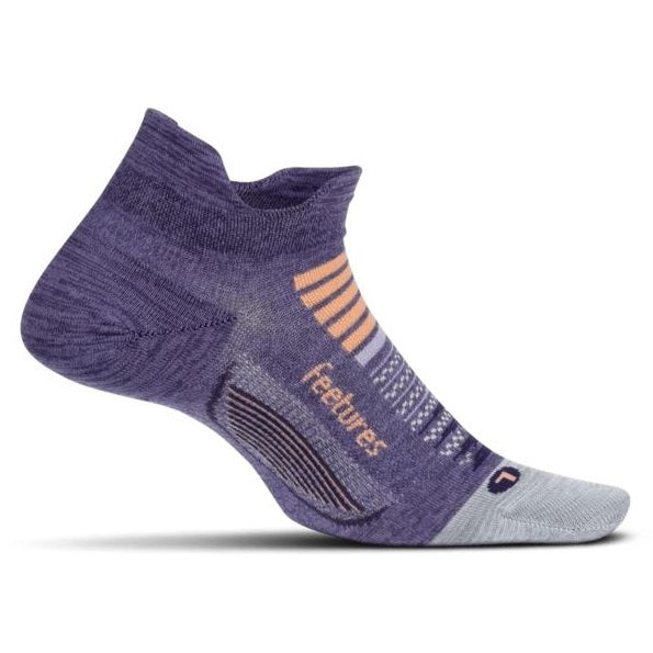 Feetures Elite Light Cushion No Show Tab Socks - Pulsar Purple
