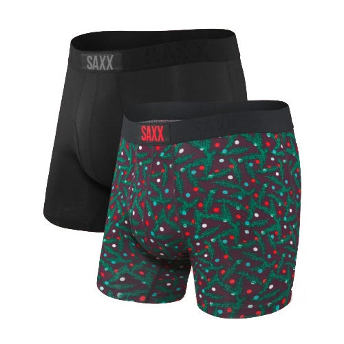 SAXX Ultra Boxer Brief - Black/Polkadot Pine