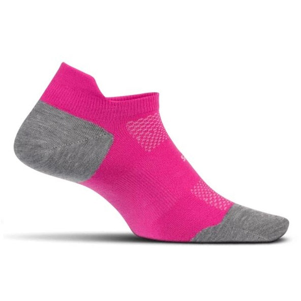 Feetures High Performance Cushion No Show Tab - Fuchsia