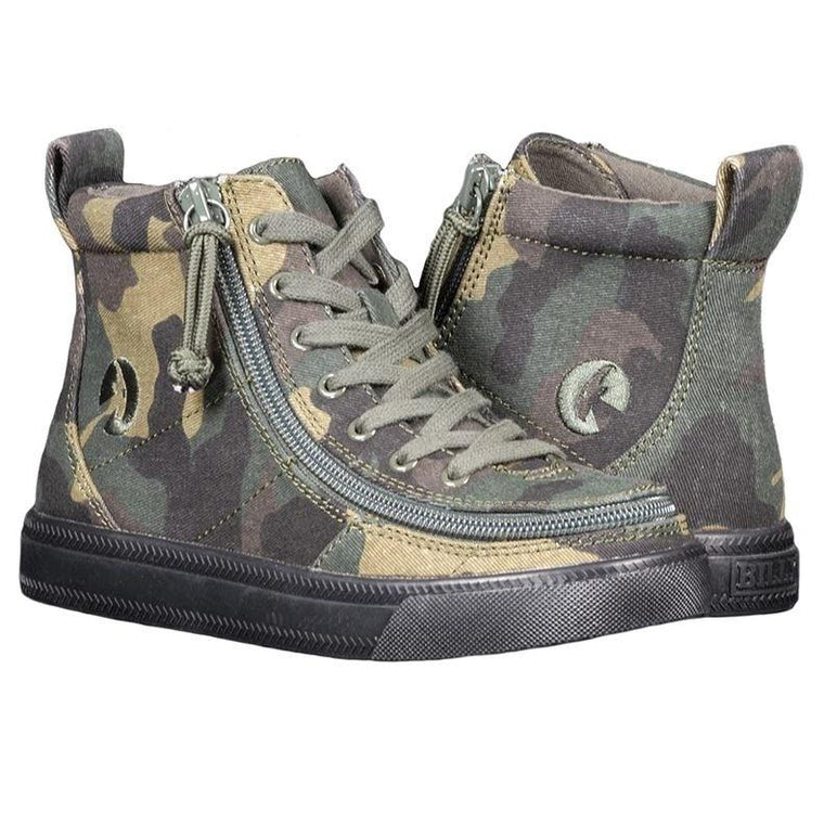 Kids' BILLY Footwear Classic Lace Zip High Top - Green Camo