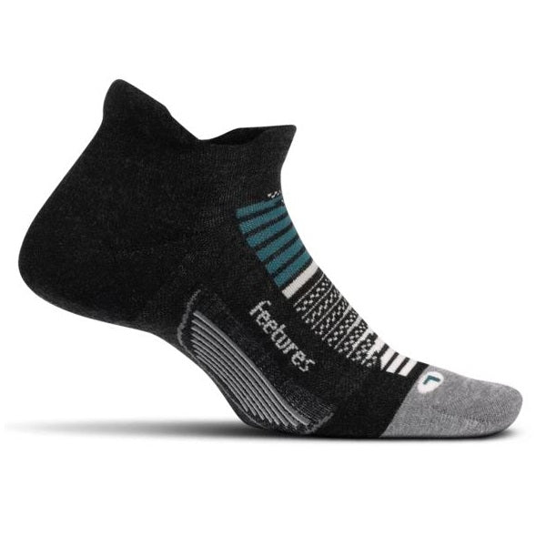 Feetures Elite Max Cushion No Show Tab Socks - Asteroid Gray
