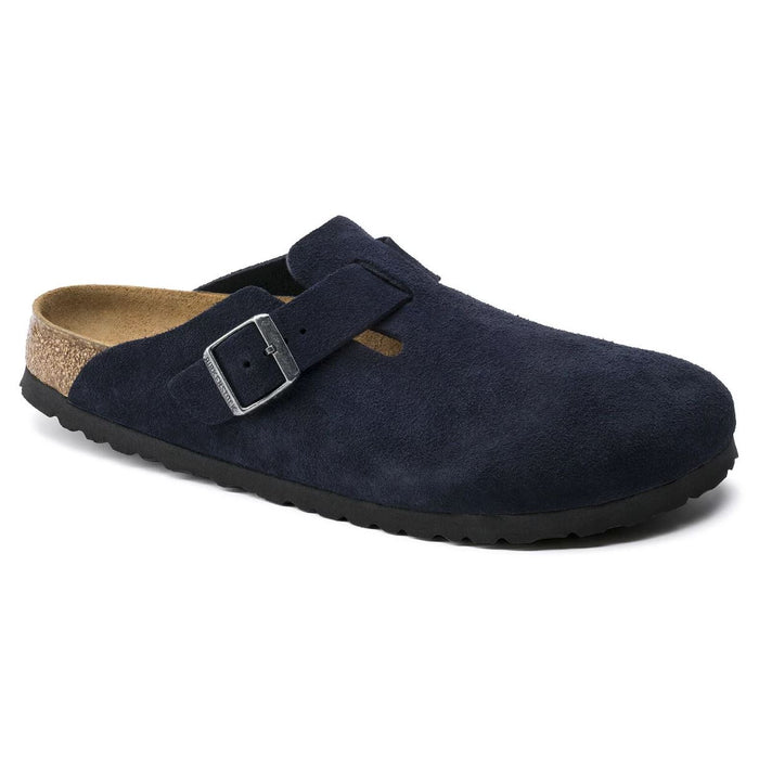 Women's Birkenstock Boston Soft Footbed Clog - Night Suede